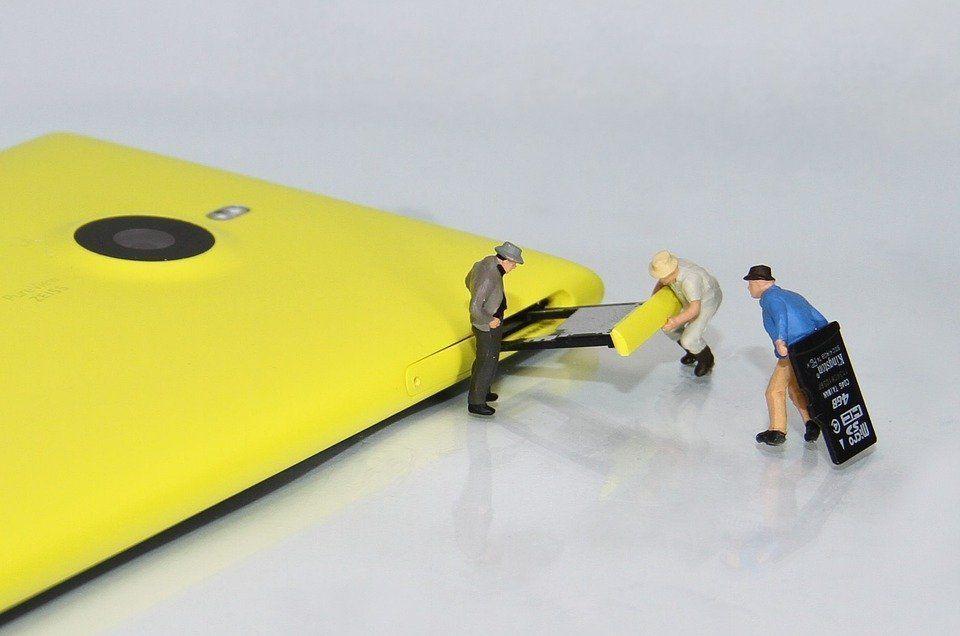 Téléphone Mobile, Sd-Card, Figurines, Smartphone