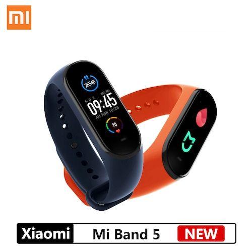 NEW Xiaomi Mi Band 5 Smart Bracelet 4 Color AMOLED Screen Mijia Miband 5  Smartband Fitness Traker Bluetooth Sport Waterproof
