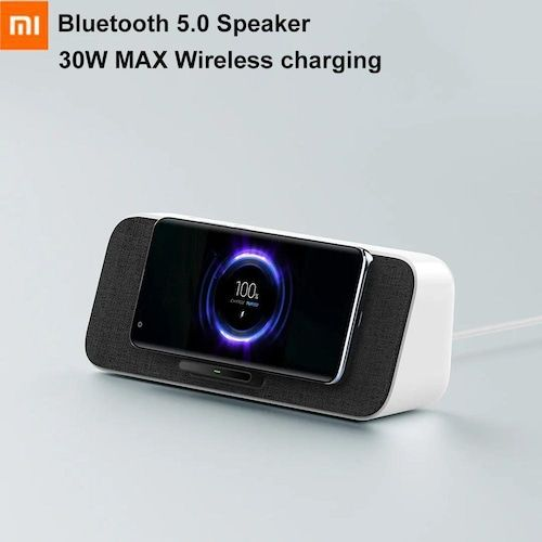 Xiaomi 30W MAX Wireless Charging Bluetooth 5.0 Speaker With Microphone  Support Mi AI NFC For iPhone 11 Samsung Xiaomi 9 10 Pro