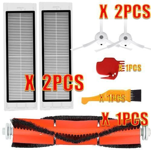 HEPA Filter + Side Brush + Main Brush for Xiaomi MI Robot Vacuum 2  Roborock S50 Vacuum Cleaner Parts Accessories