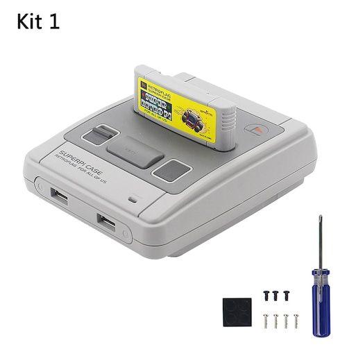Original Retroflag SUPERPI CASE-J Raspberry Pi 3 Model B+ B NESPI ABS Box  for RetroPie 32GB SD Card Gamepads Power Adapter