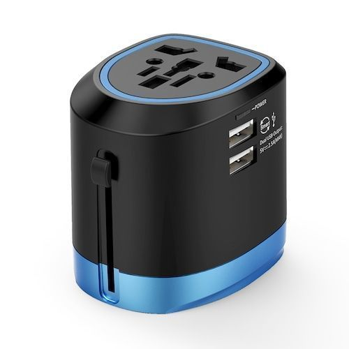 NTONPOWER Universal Travel Adapter All in One International Power Adapter  Socket Charger with 2 USB Ports Works in 150+ Countries
