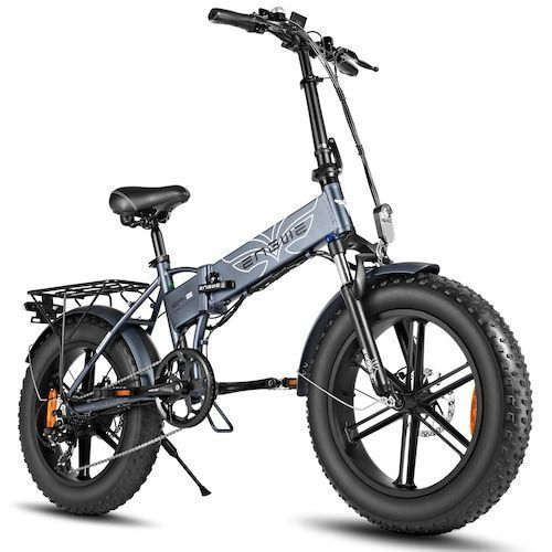 ENGWE EP-2 500W Folding Fat Tire Electric Bike with 48V 12.5Ah Lithium-ion Battery - Dark Grey Germany (entrepot EU),5%commissions