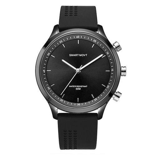 NX05 Smart Watch Mechanical Hand One Key SOS Motion Monitoring Tracker Call Alert Smartwatch - Black
