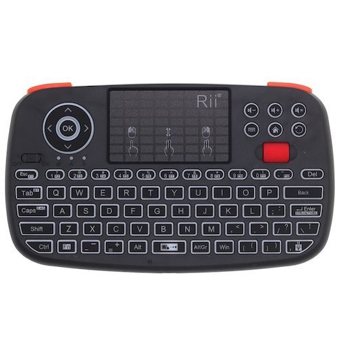 Rii RT726 Bluetooth 2.4Ghz Dual Mode Mini Wireless Keyboard Air Mouse With  Touchpad