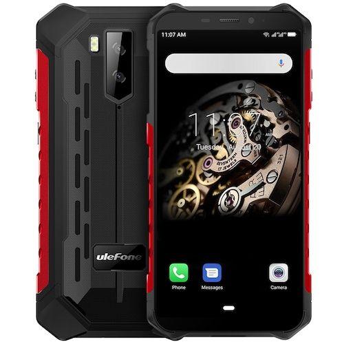 Ulefone Armor X5 4G Smartphone 5.5 inch Android 9.0 MT6763 Octa Core 3GB RAM 32GB ROM 2 Rear Camera 5000mAh Battery Global Version - Red EU