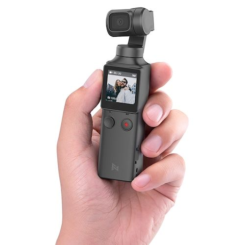 FIMI PALM 3-Axis 4K HD Handheld Gimbal Camera Pocket Stabilizer 128° Super Wide Angle Anti-shake Shoot Smart Track Built-in Wi-Fi Bluetooth Remote Control ( Xiaomi Ecosystem Product ) - Black