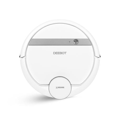 ECOVACS DEEBOT DE55 Navi 3.0 Technology Robot Vacuum Cleaner Silent Operation - Silk White   En destokage