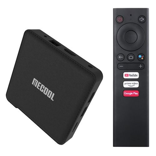 MECOOL KM1 COLLECTIVE ATV Google Certified TV Box with Smart Voice Remote  Amlogic S905X3 Dual-band WiFi