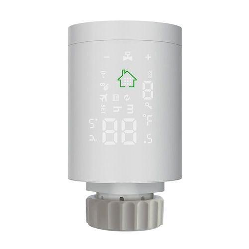 Moeshouse HY368-ZB Tuya ZigBee 3.0 Smart Radiator Actuator Programmable  Thermostatic Radiator Heating Valve Temperature Controller Voice Control  via Alexa