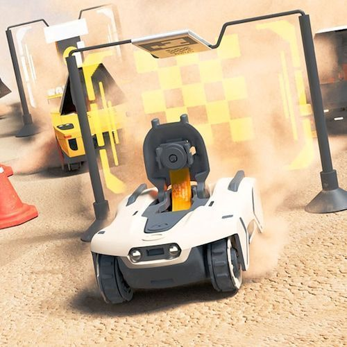 Adventure Armored Mixed Reality Racing Vehicles RC Off-Road Car Toy - Light Yellow