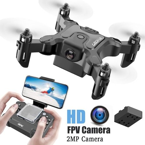 Mini Drone With Without HD Camera Hight Hold Mode RC Quadcopter RTF WiFi FPV Quadcopter Follow Me RC Helicopter Quadrocopter - 2MP camera 1 battery