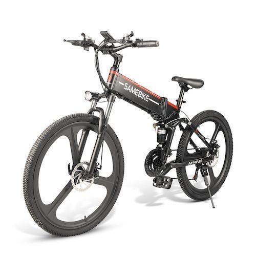 Samebike LO26 Moped Electric Bike Smart Folding Bike E-bike EU plug - Black EU plug Poland