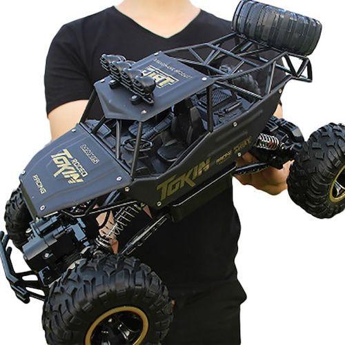4WD RC Car Updated Version 2.4G Radio Control RC Car Toys Remote Control Car Trucks Off-Road Trucks boys Toys for Children - alloy 37cm ES    3%commissions  (entrepot EU)