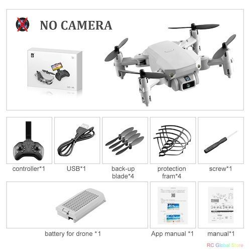 Mini RC Drone with 4K HD Camera WiFi FPV UAV Aerial Photography Helicopter Foldable LED Light Quadrocopter Quality Toy AOSST - NO camera Gray