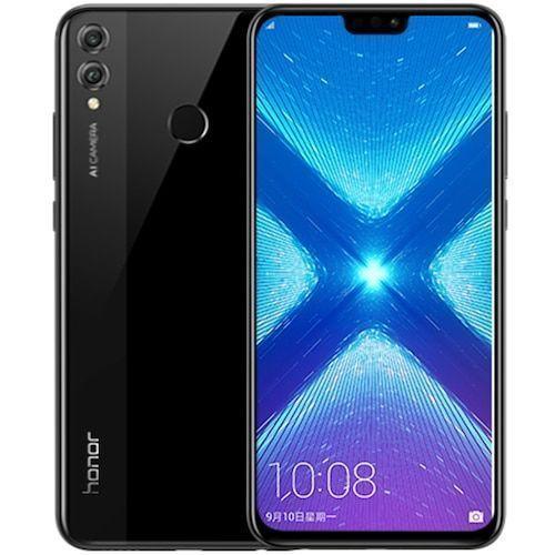 Honor 8X 6.5 inch Mobile Phone 4GB+64GB Android 8.1 20MP Octa Core Screen Fingerprint ID 3750mAh Battery Multiple Language Phone - Black