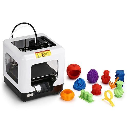 FULCRUM MINIBOT 1.0 Mini Educational Full Assembled FDM 3D Printer 2.8 inch Touch Screen ±0.1mm High Precision 1.75mm for Children Education - White EU Plug (entrepot FR)