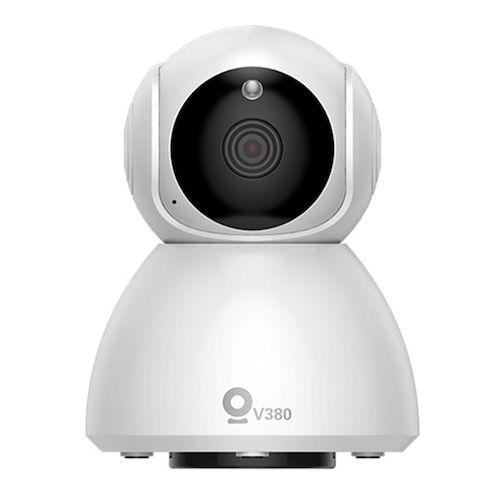 XiaoVV MVT3820G-Q8 (V380) Indoor Shaking Smart HD 1080P 360 ° Panoramic Camera Infrared Night Vision AI Mo-tion Detection Machine - White EU Plug