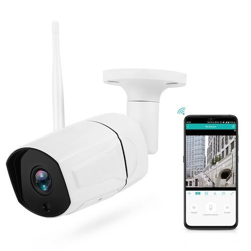 Stalwall N648 Smart Home Security HD 1080P WiFi IP Camera with AI Humanoid Detection Infrared Night Vision Two-way Talk H.265 Encoding Format - White