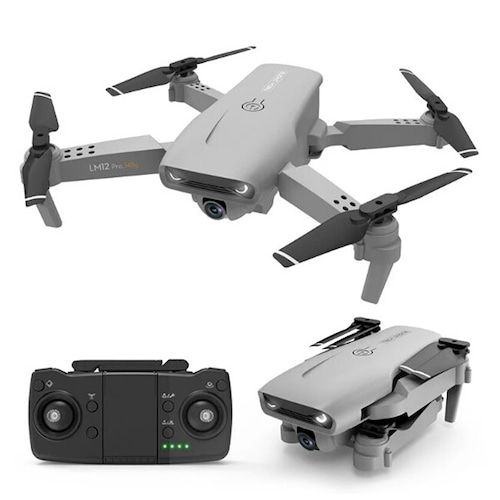 Y535 Folding GPS Drone Aerial Photography Double Camera HD 4K Remote Control Aircraft Four Axis - Gray 4k dual camera GPS positioning + optical flow version