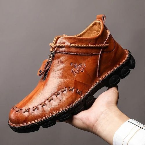 AILADUN Men's Shoes Casual Sewing Large Size Leather