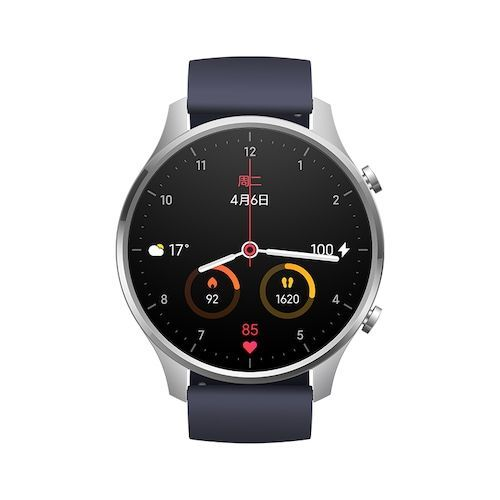 Xiaomi Smart Watch Color NFC 1.39 inch AMOLED GPS Fitness Tracker 5ATM Waterproof Sport Heart Rate Monitor Mi Watch Color - Silver (entrepot FR)