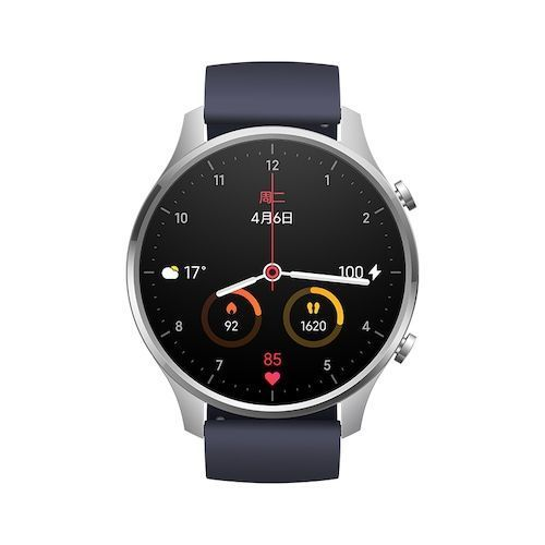 Xiaomi Smart Watch Color 1.39 inch AMOLED GPS Fitness Tracker 5ATM Waterproof Sport Heart Rate Monitor Mi Watch Color - Silver