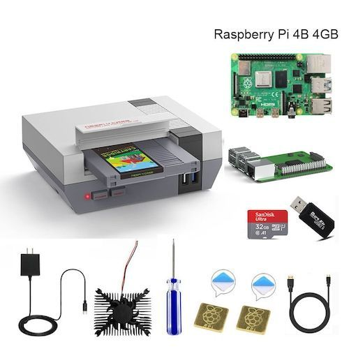 RETROFLAG NESPi 4 CASE Raspberry Pi 4 Case with SSD CASE Cooling Fan HDMI Adaptor & Heatsinks for Raspberry Pi 4 Model B - 4GB Board 1