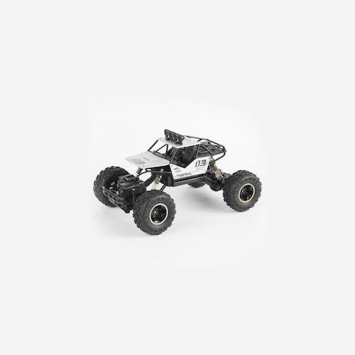 4WD RC Car Updated Version 2.4G Radio Control RC Car Toys Remote Control Car Trucks Off-Road Trucks boys Toys for Children - 28cm alloy-white ES (entrepot EU)