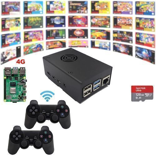 Raspberry Pi 4 Model B 4G Game Kit Wireless Retro Game Console Fully  Loaded Assembled Plug Play