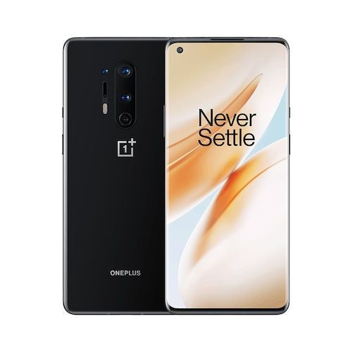 Original Oneplus 8 Pro 5G Mobile Phone 6.78 inch 2K 120Hz Snapdragon 865 Octa Core 8G 128G Android 10 30W Charger NFC Smartphone - 12G 256G Black Official Packing