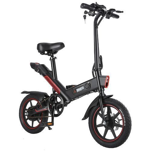 DOHIKER Y1 Folding Electric Bicycle 350W 36V Waterproof Electric Bike with 14inch Wheels 10Ah Rechargeable Battery - Black Poland