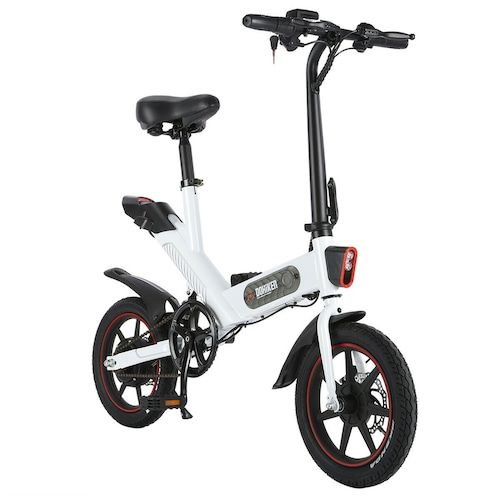 DOHIKER Y1 Electric Folding Bike 14 inch wheels 350W 25km/h City Bike with  36V 10Ah Battery LED Headlight - Poland