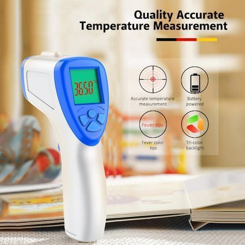 Non-contact Infrared Thermometer 0.5s Fast Reading 0.2℃ Accuracy LED HD  Display Fever Alarm