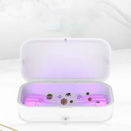 UV Sterilization Box Mobile Phone Wireless Charging Case Ultraviolet Ozone  Disinfection Box Aromatherapy Machine for Smartphone Jewelry