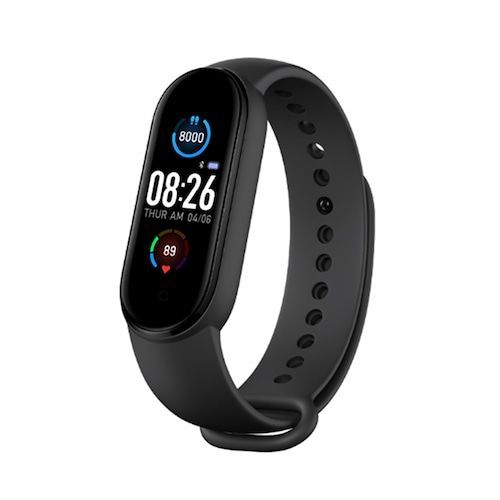 Gocomma M5 Smart Wristband Continuous Blood Pressure Oxygen Monitor  Wristband Message App Push Fitness Tracker Color Screen