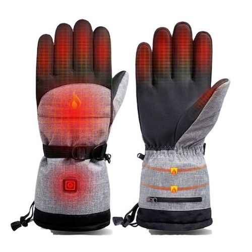 Outdoor Ski Charging Cycling Riding Electric Heating Gloves Lithium  Battery Smart Warm Heating Gloves