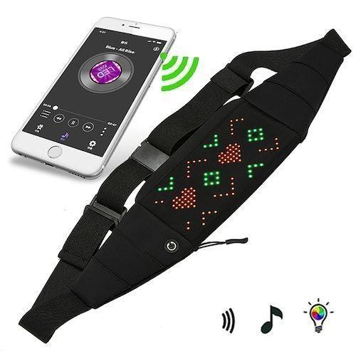 APP Controlled LED Light Chest Bag Backpack Messenger Bag