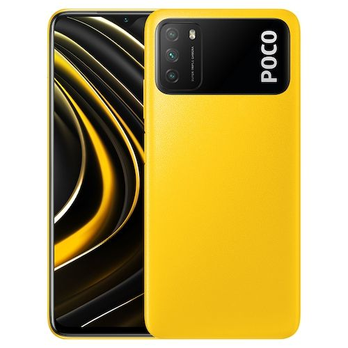 Xiaomi Poco M3 4G Smart Phone Media Qualcomm Snapdragon 662 6.53 Inch Screen Triple Camera 48MP + 2MP + 2MP 6000mAh Battery - Yellow 4 + 64GB