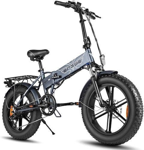 ENGWE EP-2 PRO 750W Folding Fat Tire Electric Bike with 48V 12.8Ah  Lithium-ion Battery