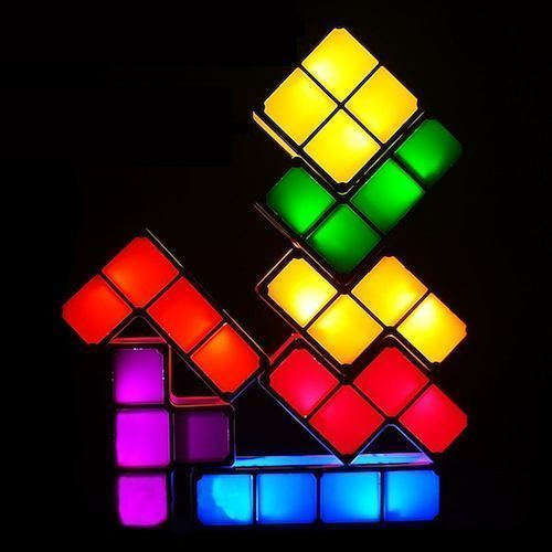 Tetris Lights LED Luminous Building Block Desk Lamp Bedroom Night Light  Hotel Window Atmosphere Lamp