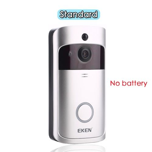 EKEN V5 Smart WiFi Video Doorbell Camera Visual Intercom With Chime Night Vision IP Door Bell Wireless Home Security Camera - Standard UK Plug