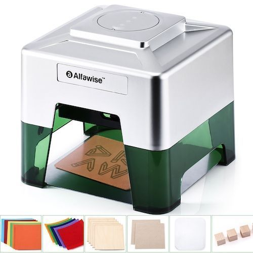 Alfawise C50 Mini Wireless Smart Laser Engraver Cutter APP Operation  Freely DIY Various Materials Engraving Machine 98 x 88 mm Engraving Area