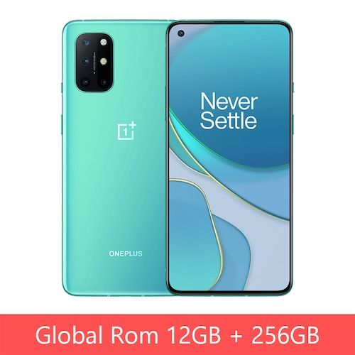 Global Rom OnePlus 8T 8 T Snapdragon 865 5G Smartphone 12GB 256GB 120Hz  Fluid Display 48MP Quad Cams 65W Warp Charge 4500mAh