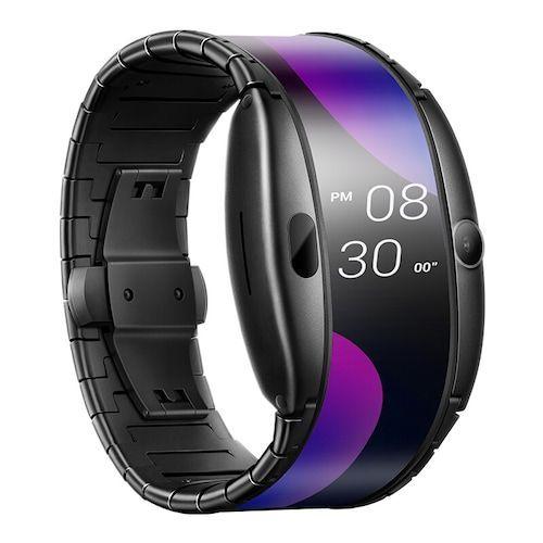 Global Version Nubia Alpha Smart Phone Watch 4.01 inch Foldable Flexible  Screen Snapdragon 8909W Bluetooth calling