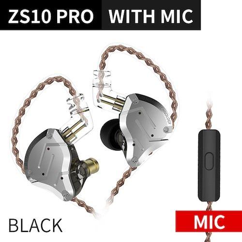 KZ ZS10 PRO 4BA+1DD HIFI Metal Headset Hybrid In-ear Earphone Sport Noise  Cancelling Headset KZ ZSN PRO ZST AS16 AS12 AS10 C16