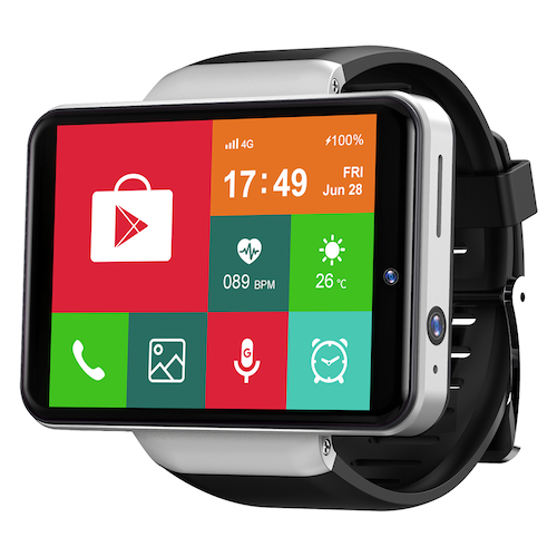 Ticwris Max S 4G Smart Watch Phone Android 7.1 MTK6739 Quad Core 3GB /  32GB Smartwatch Heart Rate Pedometer IP67 Waterproof