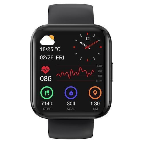2021 KOSPET MAGIC 3 1.71 inch 3D Curved Full Touch Screen Smartwatch 20  Sports Modes Real Blood Oxygen Test IP68 Waterproof Bluetooth 5.0-Black
