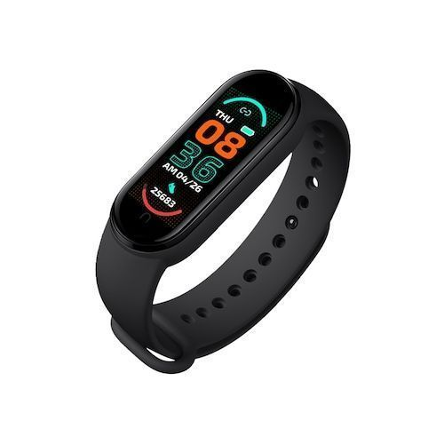 2021 New M6 Smart Bracelet Watch Fitness Tracker Heart Rate Blood Pressure Monitor Color Screen IP67 Waterproof For Mobile Phone