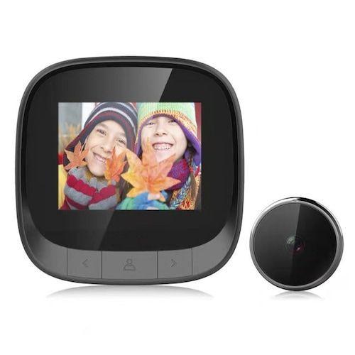 DD3S Hidden Smart Home Anti-theft System Visual Doorbell Cat Eye  Surveillance Camera 2.4-inch LCD Video Intercom Monitoring Camera Night  Vision HD Photo Storage Built-in Memory